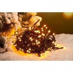 Guirlande solaire de Noël 100 LED - 10 m - Blanc chaud