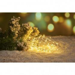 Guirlande de Noël Filaire - 40 Mini LED - Blanc chaud
