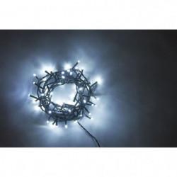 Guirlande solaire de Noël 100 LEDS - 10 m - Blanc froid