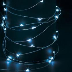 Guirlande extérieure - Lumineuse - 100 micro-LED - Bleu