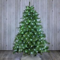 Filet lumineux pour arbre H 200 cm cm 195 LED avec contrôleur