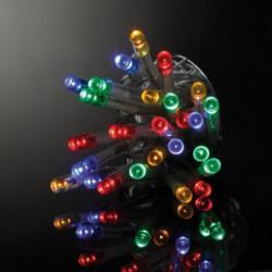 Guirlande de Noël lumineuse intérieure vert et blanc en PVC