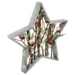 Étoile décorative a poser - En bois