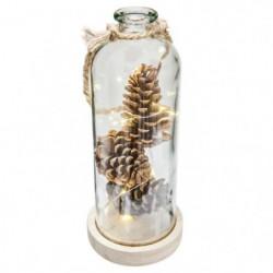 Vase + Pommes de Pain + Micro LED - H 31 cm