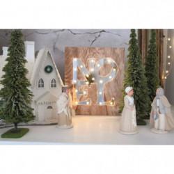 BLACHERE Tableau LED miroir Noël 21 LEDBlanc chaud