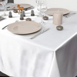 Nappe en satin - 140 x 240 cm - Blanc