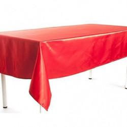 Nappe en satin - 140 x 240 cm - Rouge