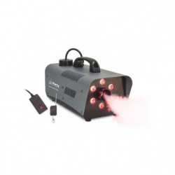 PARTY FOG1200LED Machine à fumée 1200w avec 6 led RVB - Noir