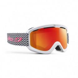JULBO Masque de Ski June Blanc et Noir