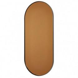 Miroir oval en métal - 30 x 69,5x 2 cm - Noir