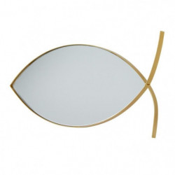 Miroir en forme de Poisson - 39,6 x 18,5 x 1,6 cm