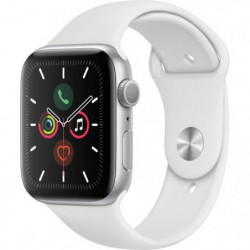 Apple Watch Series 5 GPS 44 mm Boîtier en Aluminium Argent