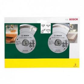 BOSCH 2 disques diamant 115mm matériaux
