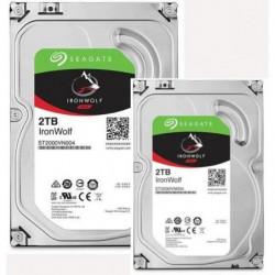"""SEAGATE Pack de 2 Disques durs NAS HDD Iron Wolf 2To 3,5"""""""