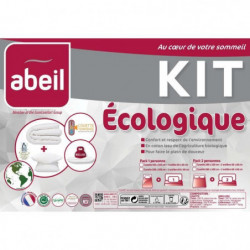 ABEIL Pack écologique coton BIO - 1 Couette 200x200 cm