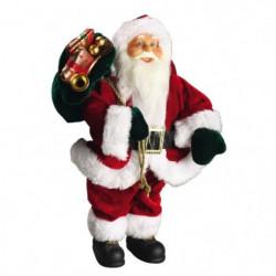 Personnage de Noël Pere Noël rouge 30x15,5x8cm
