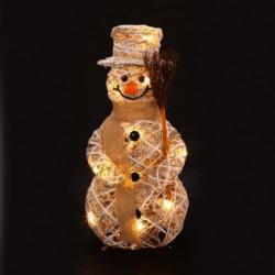 Figurine de Noël Silhouette Bonhomme de neige lumineuse Noël