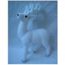 Décoration a poser - Renne Blanc debout - 42 cm