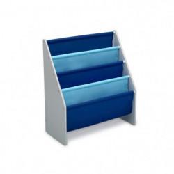 DELTA KIDS - Rangement enfant bibliotheque gris bleu