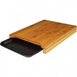 JOCCA Planche a découper bambou avec plateau 36x27,5x4 cm