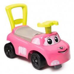 SMOBY - Porteur Auto Enfant Rose