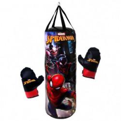 SPIDERMAN Punching Ball Sac de Frappe 50cm et 1 Paire de Gants