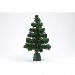 Sapin vert de Noël - H 45 cm - Fibre optique LED rouge