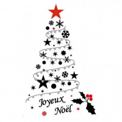 Sticker sapin de Noël Do It Yourself en PVC - 150 x 84 cm