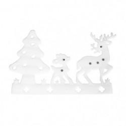 Sticker de Noël paysage Blanc 38x60 cm