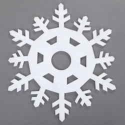 Sticker de Noël Flocon en PVC Blanc 43 cm