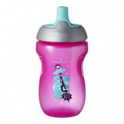 TOMMEE TIPPEE Tasse Sporty pour enfant - rose - 12 mois +