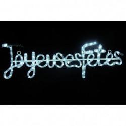 """Tube lumineux """"Joyeuses Fetes"""" - 4 m - Blanc - 112 LEDS"""