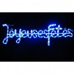 "Tube lumineux ""Joyeuses Fetes"" - 4 m - Bleu - 112 LEDS"
