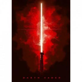 Poster métallique Star Wars : Sabre Laser Dark Vador