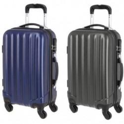 Set de 2 Valises Cabines 4 Roues ABS Gris Foncé/Bleu 55x35x20 cm