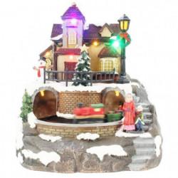 BLACHERE Village et Son Train Animé 8 LED Multicolores