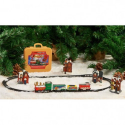 Petit train dans valisette en PVC - 1 train / 3 wagons et 9 rails