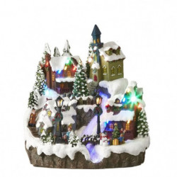 Winter village scenery battery operated - l26,5xw26xh29cm