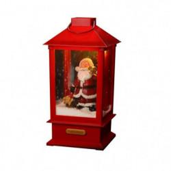 Lanterne Pére Noël animée & musicale 32cm