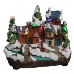 Village de Noël Pont lumineux