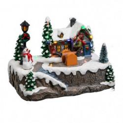 Village de Noël Balancoire Lumineux et Animé