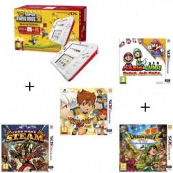 4 jeux + console 2DS Rouge + New Super Mario Bros 2 + Mario