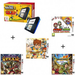 4 jeux + console 2DS Bleue + New Super Mario Bros 2 + Mario