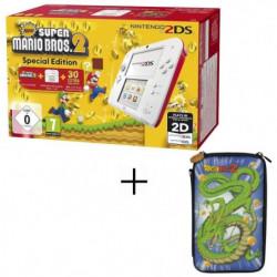 2DS + New Super Mario 2 + Housse 2DS Konix Dragon Ball Shenron