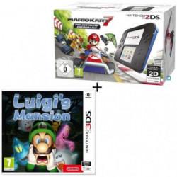 Console 2DS Bleue + Mario Kart 7 Préinstallé + Luigi's Mansion