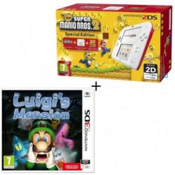 Console 2DS Rouge + New Super Mario Bros 2 + Luigi's Mansion