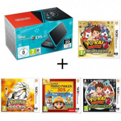New 2DS XL + Yo-Kai Watch 2 : Fantômes Bouffis + Pokémon Soleil