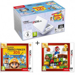 New 2DS XL Blanc/Lavande + Super Mario Maker + Super Mario 3D Land