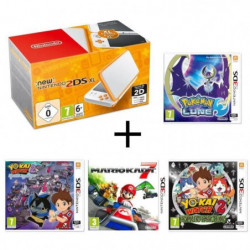 New 2DS XL Blanche Orange + Yo-Kai Watch 2