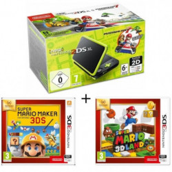New 2DS XL Noir/Citron Vert + Super Mario Maker + super Mario 3D Land